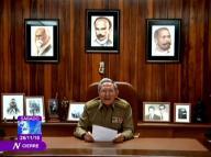 El presidente de Cuba,  Raúl Castro, anuncia la muerte de su hermano, el líder revolucionario Fidel Castro, a través de la televisión. 26 de noviembre de 2016. Reuters/vía Televisión Cubana. ATENCIÓN EDITORES - SOLO PARA USO EDITORIAL.  NO ESTÁ A LA VENTA Y NO SE PUEDE USAR EN CAMPAÑAS PUBLICITARIAS. ESTA IMAGEN HA SIDO ENTREGADA POR UN TERCERO Y SE DISTRIBUYE EXÁCTAMENTE COMO LA RECIBIÓ REUTERS COMO UN SERVICIO A SUS CLIENTES.