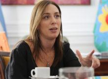 LA PLATA. CHARLA DE LA GOBERNADORA MARIA EUGENIA VIDAL CON MEDIOS EN LA CASA DE GOBIERNO